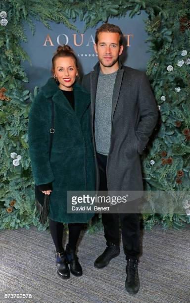 Jessica Ellerby and Nick Hendrix attend the launch of The Nordic Winter Garden at Aquavit by McQueens on November 13 2017 in London England