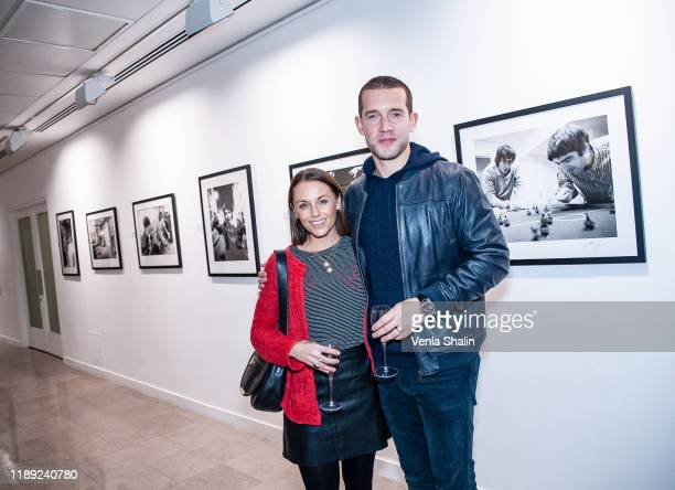 Jessica Ellerby and Nick Hendrix attending Masterplan25 The Oasis Photographs private view on November 21 2019 in London England