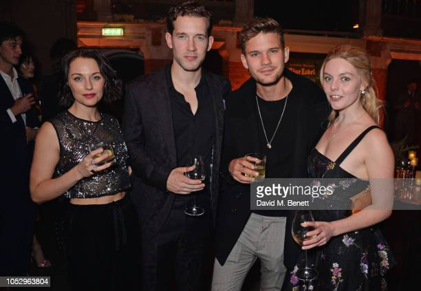 Jessica Ellerby Nick Hendrix Jeremy Irvine and Nell Hudson attend the unveiling of Johnnie Walker Blue Label Ghost and Rare Port Ellen at The Welsh...