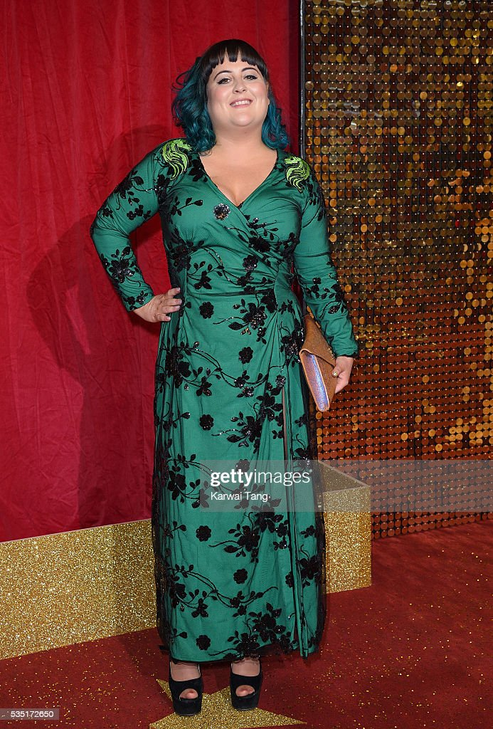 Jessica Ellis arrives for the British Soap Awards 2016 at the Hackney Town Hall Assembly Rooms on May 28, 2016 in London, England.