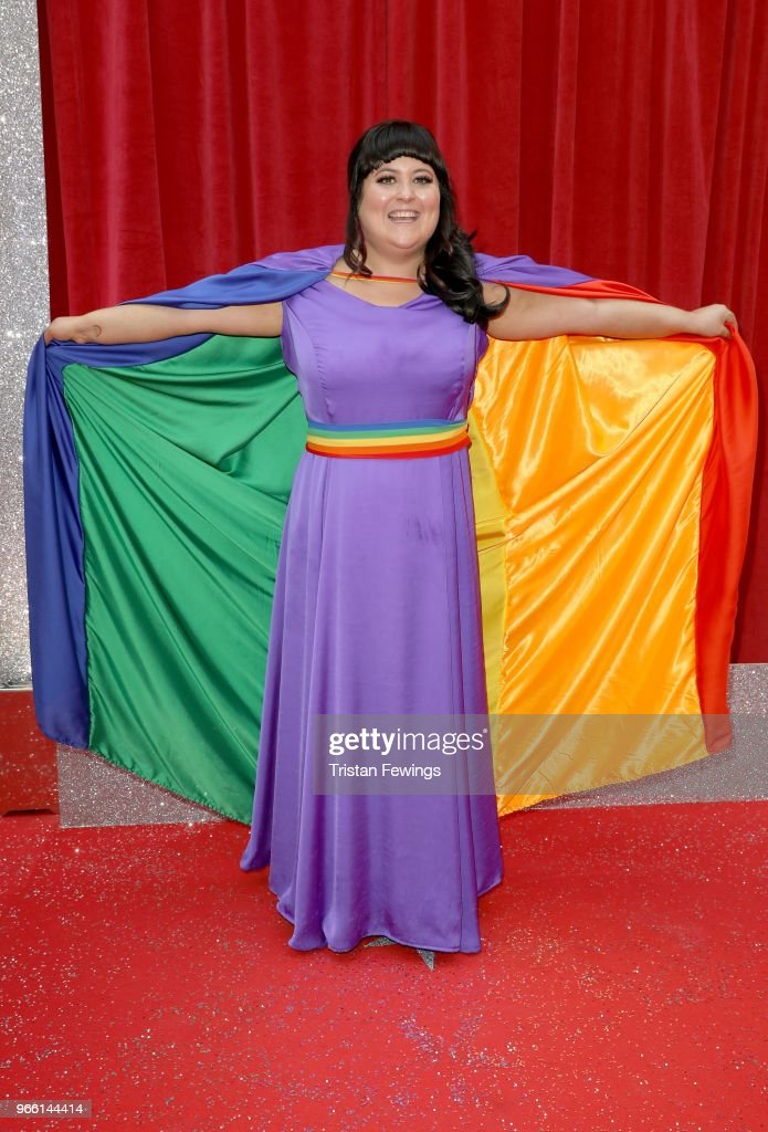 Jessica Ellis attends the British Soap Awards 2018 at Hackney Empire on June 2, 2018 in London, England.
