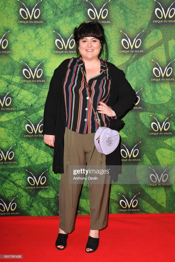 Jessica Ellis attends the Cirque Du Soleil's OVO Premiere at The Liverpool Echo Arena on August 16, 2018 in Liverpool, England.