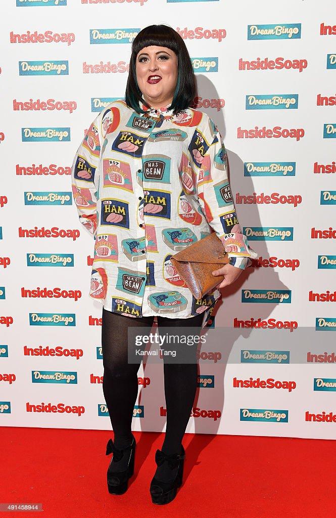 Jessica Ellis attends the Inside Soap Awards at DSKTRT on October 5, 2015 in London, England.