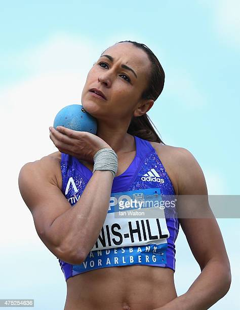 Jessica Ennis hill of Great Britain competes in the Women's shot put during the women's heptathlon during the Hypo meeting Gotzis 2015 at the Mosle...