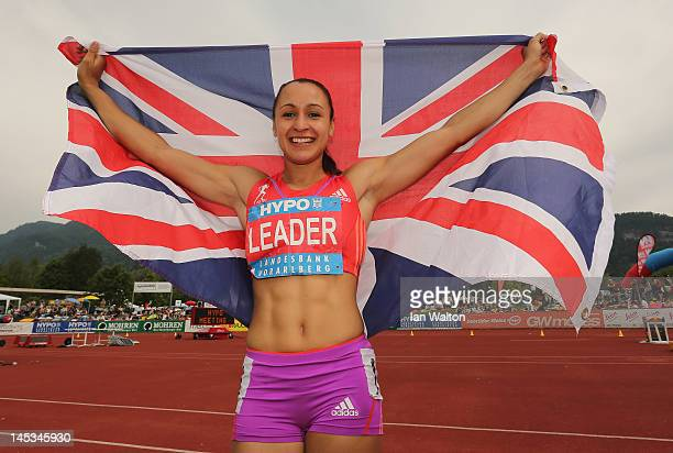 Jessica Ennis of Great Britain celebrates after winning the women's heptathlon during the Hypomeeting Gotzis 2012 at the Mosle Stadium on May 27 2012...