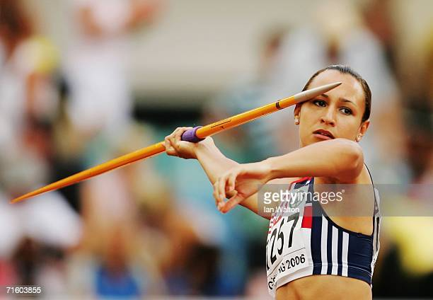 Jessica Ennis of Great Britain competes during the Javelin throw discipline in the Women's Heptathlon on day two of the 19th European Athletics...