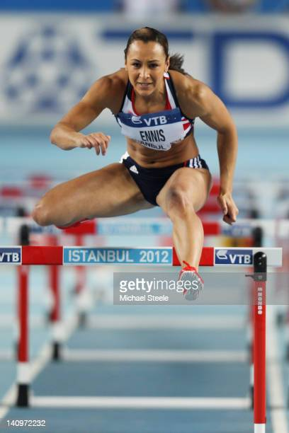 Jessica Ennis of Great Britain competes in the Women's 60 Metres Hurdles in the Pentathlon during day one of the 14th IAAF World Indoor Championships...