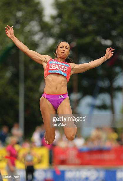 Jessica Ennis of Great Britain competes in the Women's Long Jump in the women's heptathlon during the Hypomeeting Gotzis 2012 at the Mosle Stadiom on...