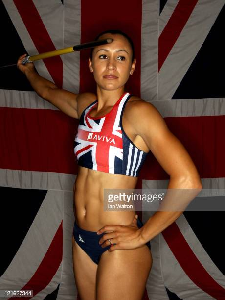 Jessica Ennis of Great Britain & Northern Ireland poses for a portrait during the Aviva funded GB&NI Team Preparation Camp on August 21, 2011 in...