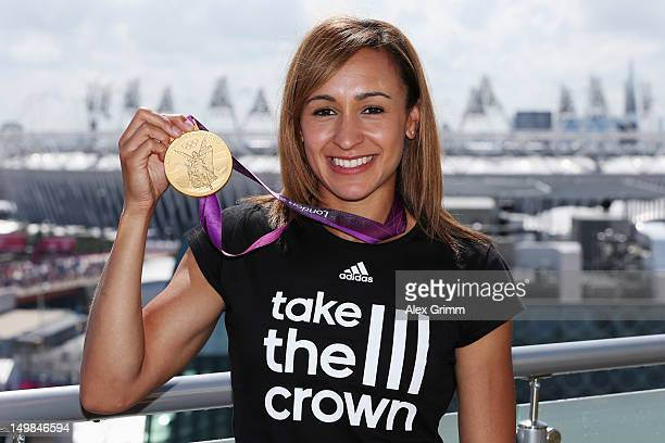 Jessica Ennis of Team GB at the adidas Olympic Media Lounge at Westfield Stratford City on August 5 2012 in London England
