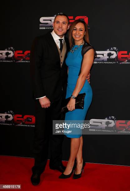 Jessica EnnisHill and Andy Hill attend the BBC Sports Personality of the Year Awards at First Direct Arena on December 15 2013 in Leeds England