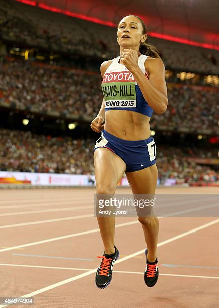 Jessica EnnisHill of Great Britain competes in the Women's Heptathlon 800 metres during day two of the 15th IAAF World Athletics Championships...