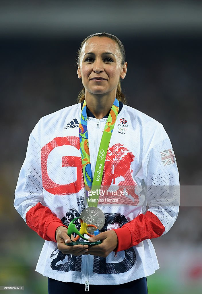 Jessica Ennis-Hill of Great Britain poses with the silver medal for the Women's Heptathlon on Day 9 of the Rio 2016 Olympic Games at the Olympic Stadium on August 14, 2016 in Rio de Janeiro, Brazil.