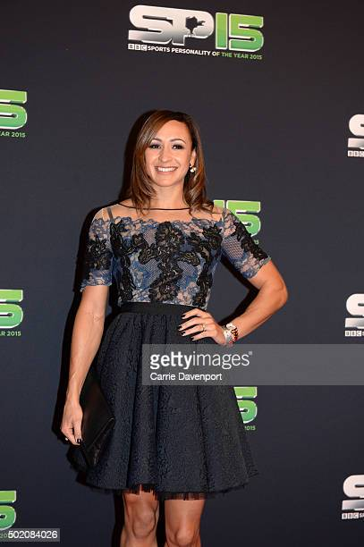 Jessica EnnisHill on the red carpet at Titanic Building before the BBC Sports Personality of the Year award at Odyssey Arena on December 20 2015 in...
