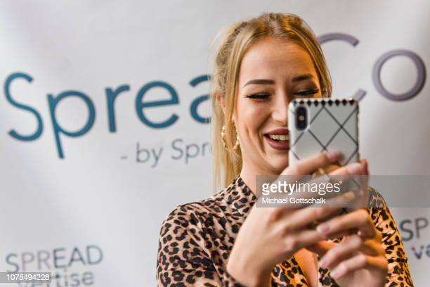 Jessica Fiorini of Love Island Girls attends the SpreadCon by Spreadvertise on December 01, 2018 in Cologne, Germany.