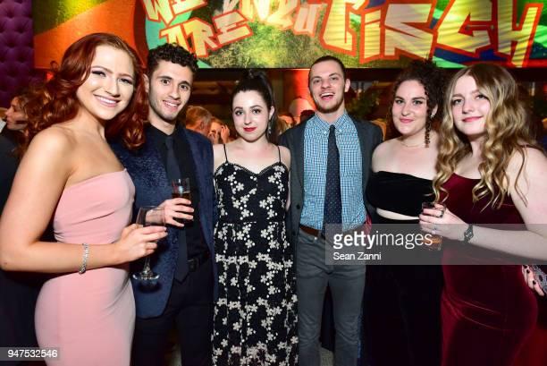 Jessica Fisher Dylan Tashjian Elizabeth Katz David Ossman Lily Lester and Erin McMillen attend NYU Tisch School of the Arts GALA 2018 at Capitale on...