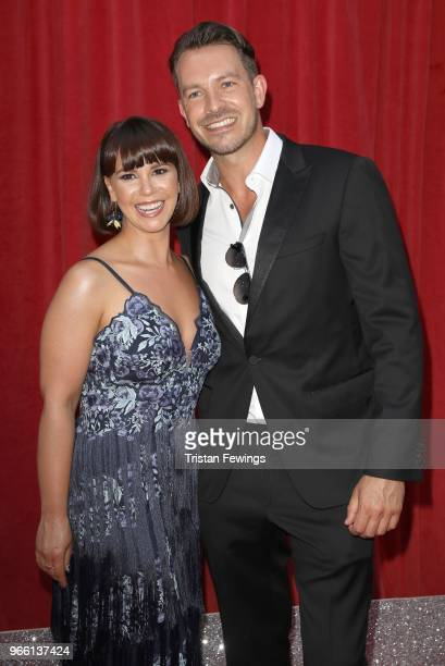 Jessica Fox and Ashley Taylor Dawson attend the British Soap Awards 2018 at Hackney Empire on June 2 2018 in London England