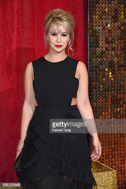 Jessica Fox arrives for the British Soap Awards 2016 at the Hackney Town Hall Assembly Rooms on May 28 2016 in London England