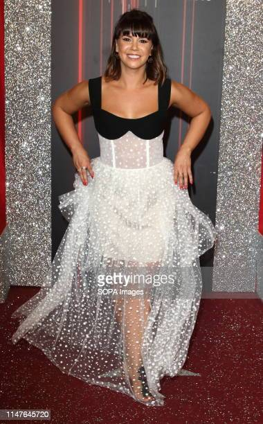 Jessica Fox arrives on the red carpet during The British Soap Awards 2019 at The Lowry, Media City, Salford in Manchester.