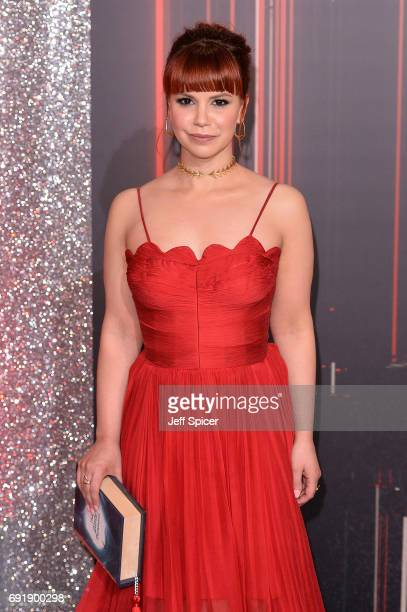 Jessica Fox attends The British Soap Awards at The Lowry Theatre on June 3 2017 in Manchester England The Soap Awards will be aired on June 6 on ITV...