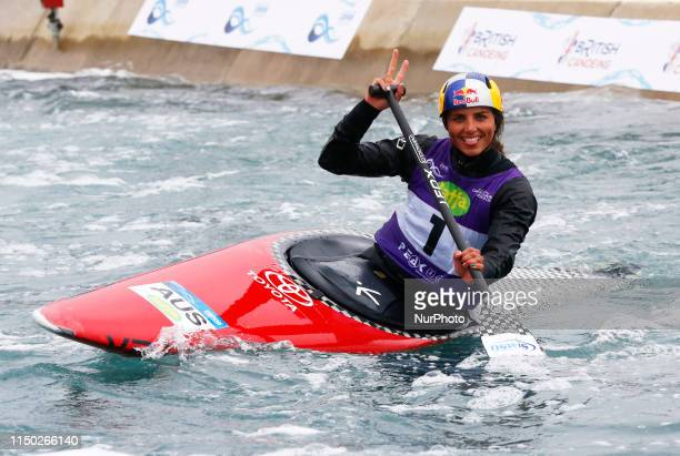 Jessica Fox Compete in Semi Final Women's C1 during 2019 ICF Canoe Slalom World Cup 1 at the Lee Valley White Water Centre London on 16 June 2019