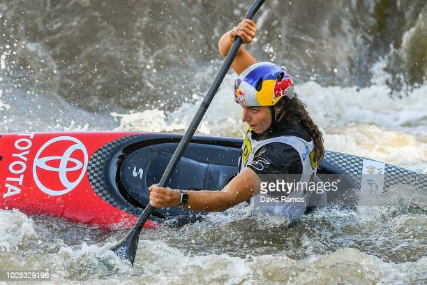 Jessica Fox of Australia competes during the first round of heats during the 2018 ICF Canoe Slalom World Cup Final on September 7 2018 in La Seu...
