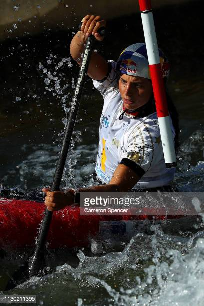 Jessica Fox of Australia competes in the Women's Canoe Single semifinal during the 2019 Australian Canoe Slalom Open on February 17 2019 at Penrith...