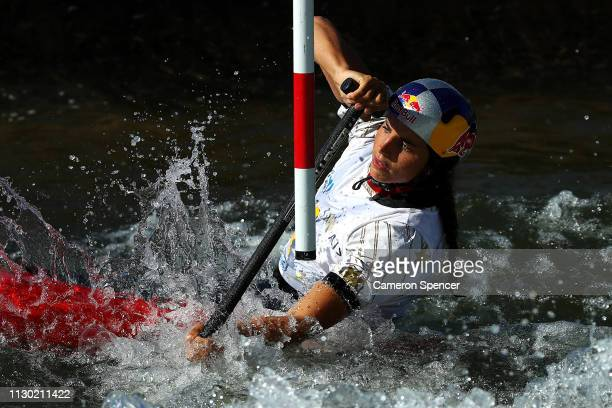 Jessica Fox of Australia competes in the Women's Canoe Single semifinal during the 2019 Australian Canoe Slalom Open on February 17, 2019 at Penrith...