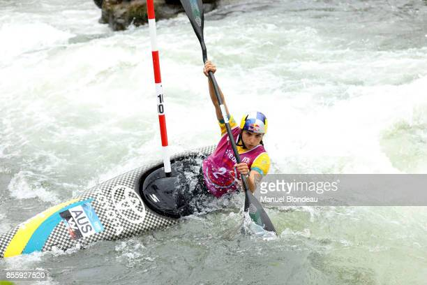 Jessica Fox of Australia during the K1 SemiFinal of the 2017 ICF Canoe Slalom and Wildwater canoeing World Championships at Stade d'Eaux Vives...