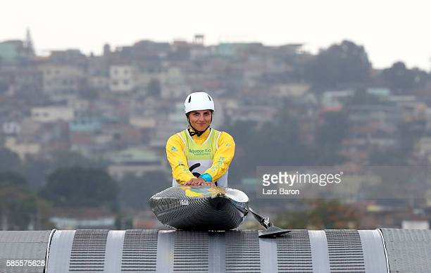 Jessica Fox of Australia prepares for a training session at the Olympic Whitewater Stadium on August 3 2016 in Rio de Janeiro Brazil
