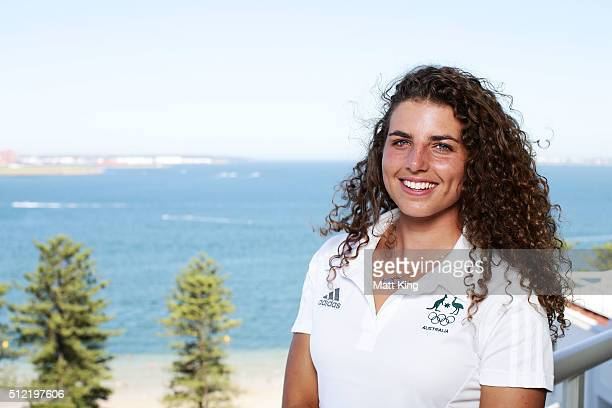 SYDNEY AUSTRALIA FEBRUARY Jessica Fox poses during the Australian Rio 2016 Olympic Games canoe slalom team announcement at Novotel Sydney on February...