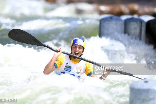 Jessica Fox wins Womens K1 Title competes during the 2017 Australian Open Canoe Slalom at Penrith Whitewater Stadium on February 19 2017 in Sydney...
