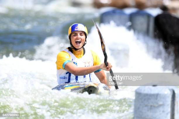 Jessica Fox wins Womens K1 Title during the 2017 Australian Open Canoe Slalom at Penrith Whitewater Stadium on February 19 2017 in Sydney Australia