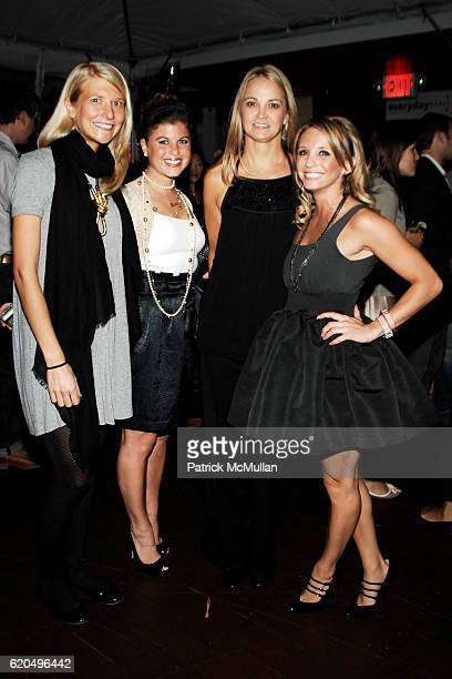 Jessica Free Lauren Gabrielle Lori Flynn and Jen Mormile attend EVERYDAY HEALTH 2nd Anniversary Party at Hudson Terrace on September 25 2008 in New...