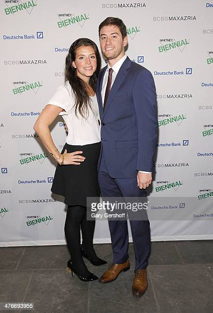 Jessica Gersh and Justin Camacho attend the 2014 Whitney Biennial Opening Night Party at The Whitney Museum of American Art on March 4 2014 in New...