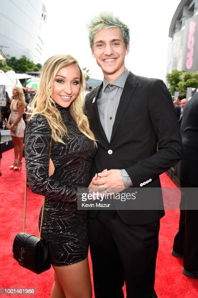 Jessica Goch and Internet personality Ninja attend the The 2018 ESPYS at Microsoft Theater on July 18 2018 in Los Angeles California
