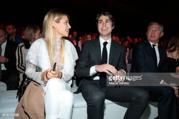 Jessica Goicoechea Alberto Palatchi Gallardo and Alberto Palatchi RIbera attend the Studio St Patrick collection during Barcelona Bridal Fashion Week...