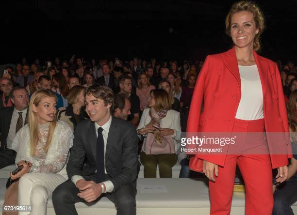 Jessica Goicoechea Alberto Palatchi Gallardo and Alejandra Silva attend the Studio St Patrick show during Barcelona Bridal Fashion Week 2017 on April...