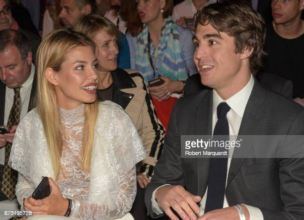 Jessica Goicoechea and Alberto Palatchi Gallardo attend the Studio St Patrick show during Barcelona Bridal Fashion Week 2017 on April 26 2017 in...