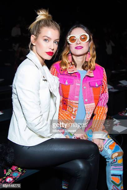 Jessica Goicoechea and Miranda Makaroff attend the Desigual show during February 2017 New York Fashion Week The Shows at Gallery 1 Skylight Clarkson...