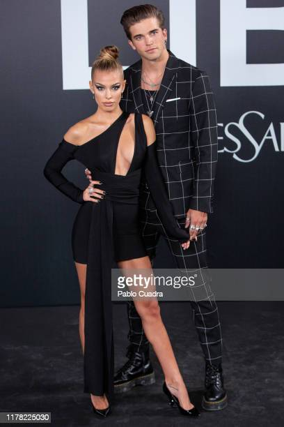 Jessica Goicoechea and River Viiperi attend the Yves Saint Laurent fragrance 'Libre' presentation on September 30 2019 in Madrid Spain
