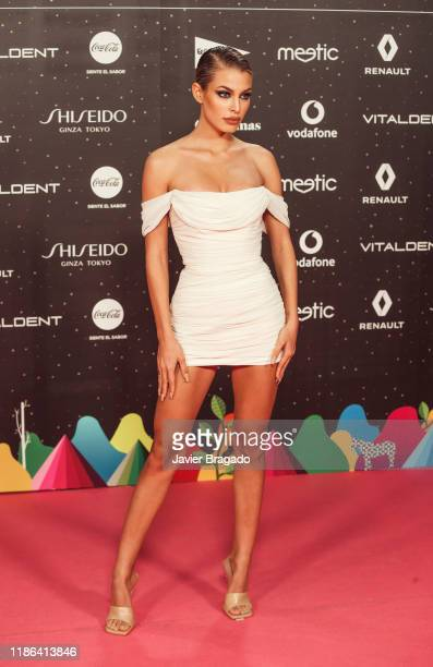 Jessica Goicoechea attends 'Los40 music awards 2019' photocall at Wizink Center on November 08, 2019 in Madrid, Spain.