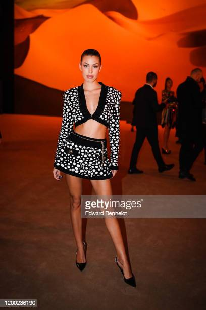 Jessica Goicoechea attends the Balmain Menswear Fall/Winter 20202021 show as part of Paris Fashion Week on January 17 2020 in Paris France