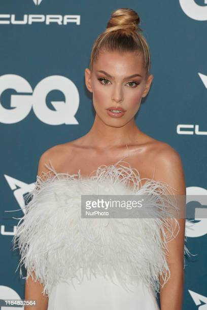 Jessica Goicoechea attends the GQ Magazine 25th Aniversary at La Zarzuela Racecourse in Madrid, Spain on Jul 9, 2019