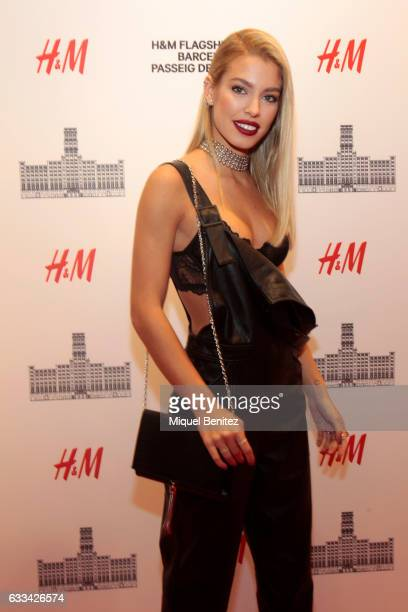 Jessica Goicoechea attends the HM Flagship Store Opening at Passeig de Grcia 11 in Barcelona on February 1 2017 in Barcelona Spain