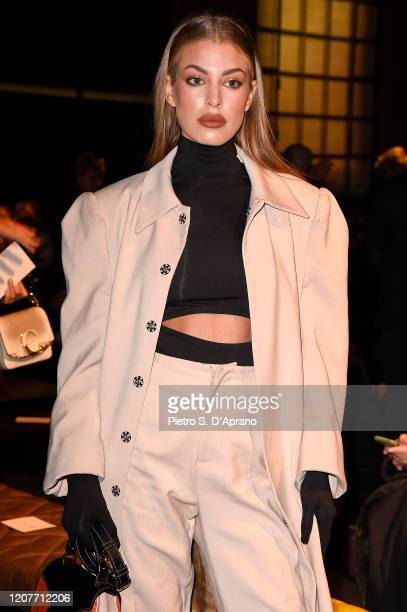 Jessica Goicoechea attends the Tod's fashion show on February 21, 2020 in Milan, Italy.