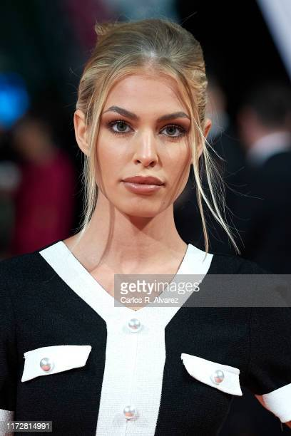 Jessica Goicoechea attends 'Toy Boy' premiere at Teatro Principal on September 06, 2019 in Vitoria-Gasteiz, Spain.