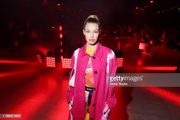Jessica Goicoechea is seen at the MSGM fashion show on January 12 2020 in Milan Italy