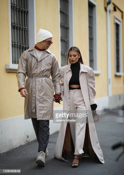 Jessica Goicoechea is seen before Tods during Milan Fashion Week Fall/Winter 2020-2021 on February 21, 2020 in Milan, Italy.
