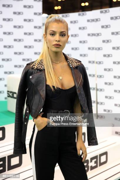 Jessica Goicoechea presents B3D collection during Momad Shoes at Ifema on September 22 2017 in Madrid Spain